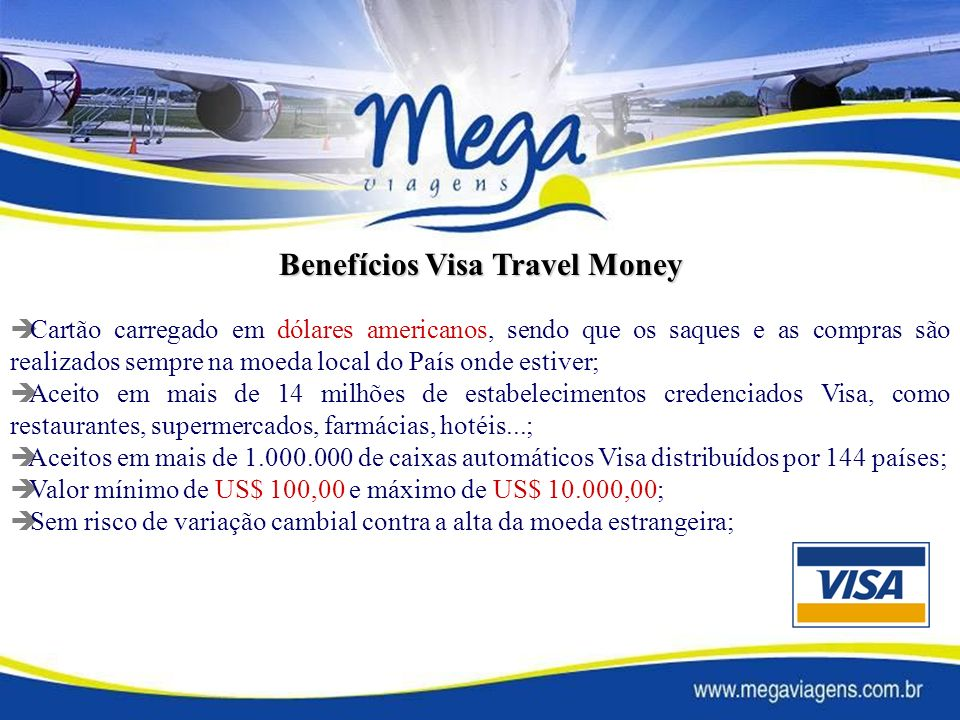 Benefícios Visa Travel Money