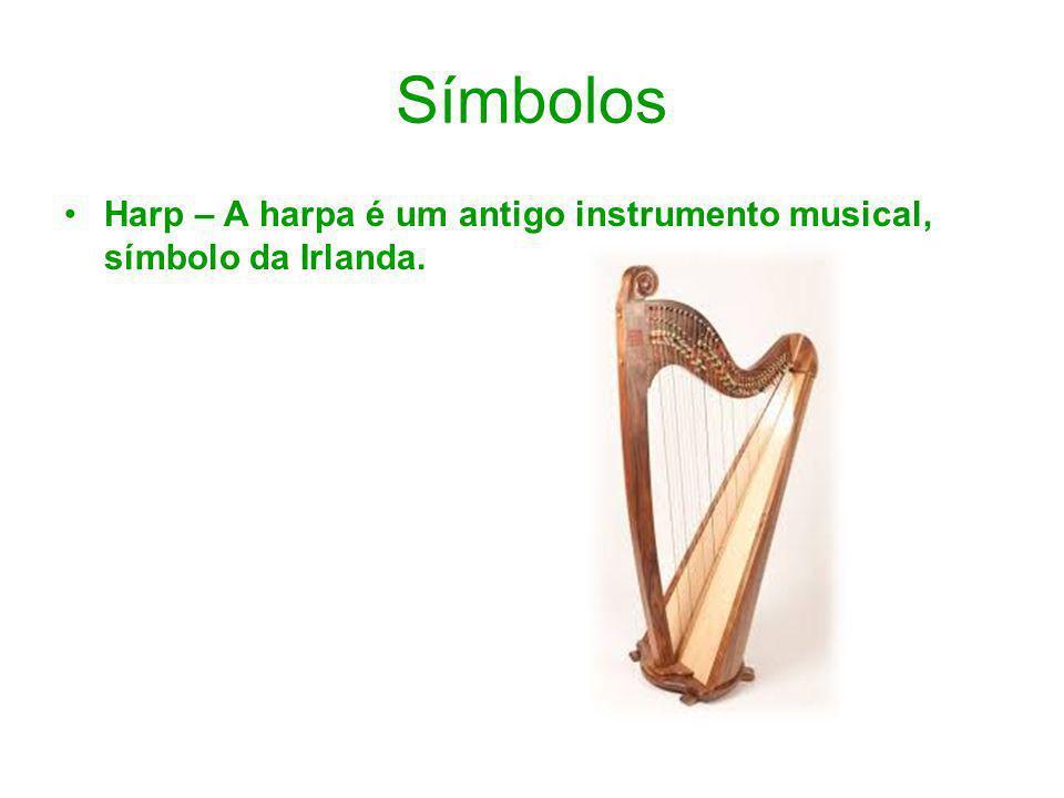 Símbolos Harp – A harpa é um antigo instrumento musical, símbolo da Irlanda.