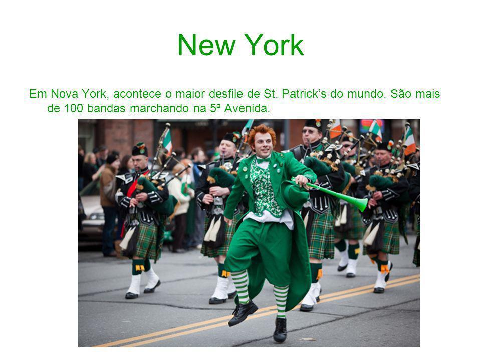 New York Em Nova York, acontece o maior desfile de St.