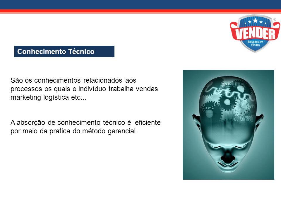 abril-2011 Conhecimento Técnico. São os conhecimentos relacionados aos processos os quais o indivíduo trabalha vendas marketing logística etc...