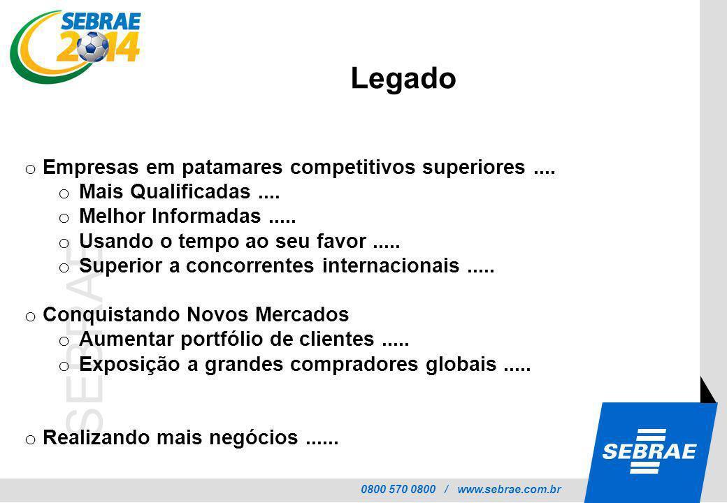 Legado Empresas em patamares competitivos superiores ....