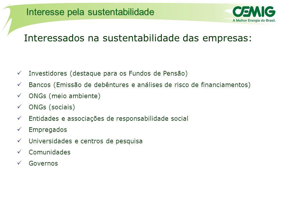 Interessados na sustentabilidade das empresas: