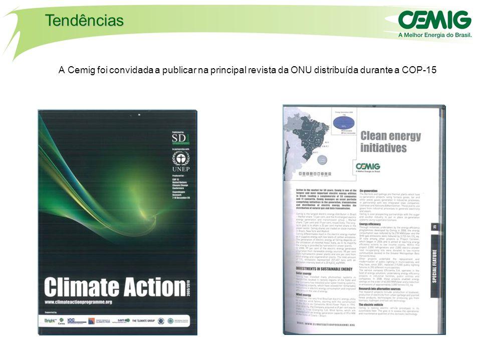 Tendências A Cemig foi convidada a publicar na principal revista da ONU distribuída durante a COP-15.