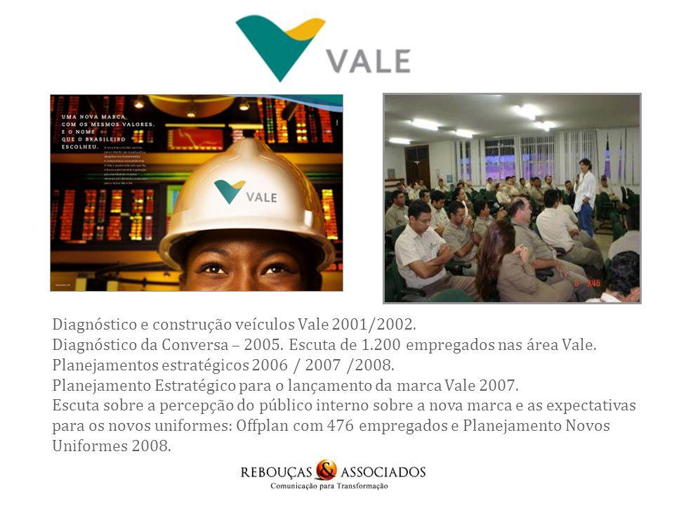 Diagnóstico e construção veículos Vale 2001/2002.