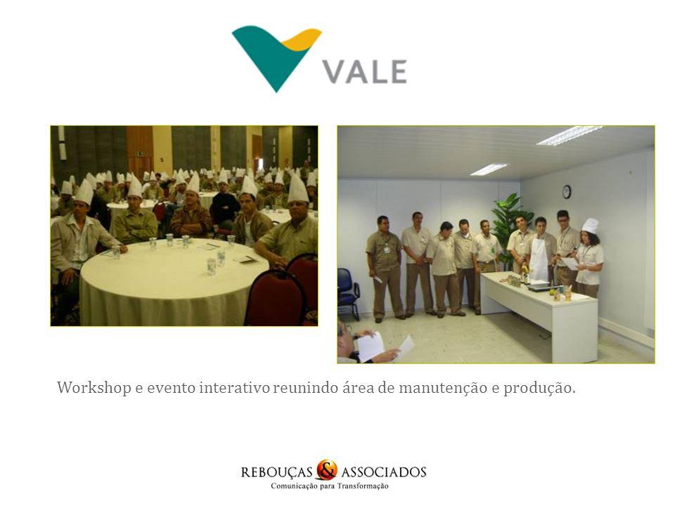 Workshop e evento interativo reunindo área de manutenção e produção.