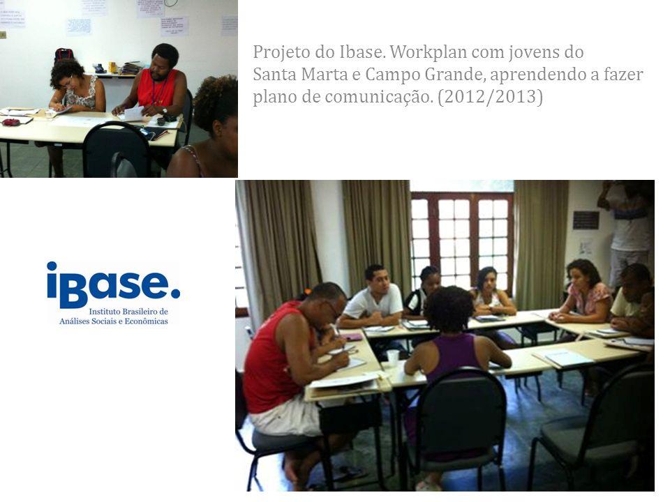 Projeto do Ibase. Workplan com jovens do