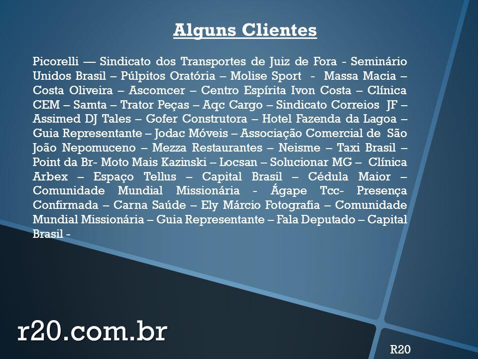 r20.com.br Alguns Clientes