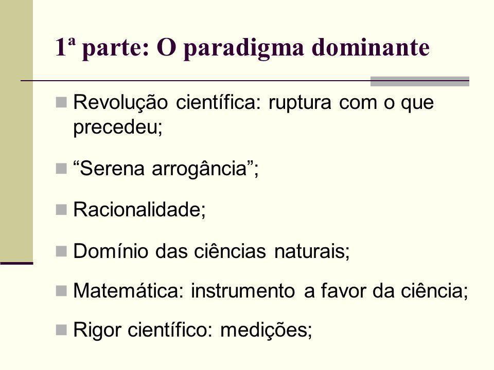 1ª parte: O paradigma dominante