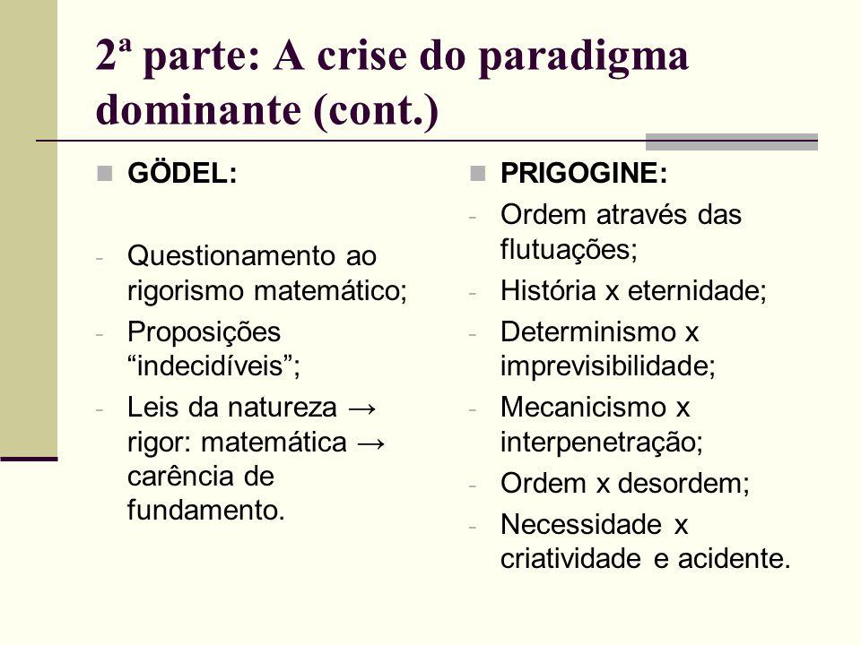 2ª parte: A crise do paradigma dominante (cont.)