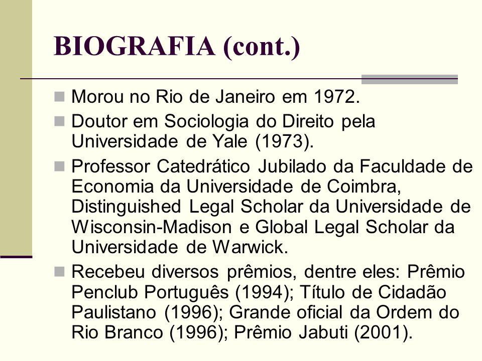 BIOGRAFIA (cont.) Morou no Rio de Janeiro em 1972.