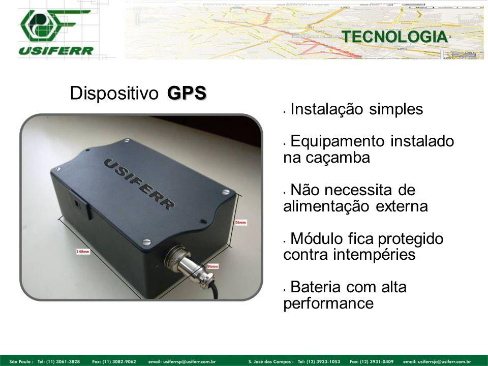 Dispositivo GPS TECNOLOGIA Instalação simples