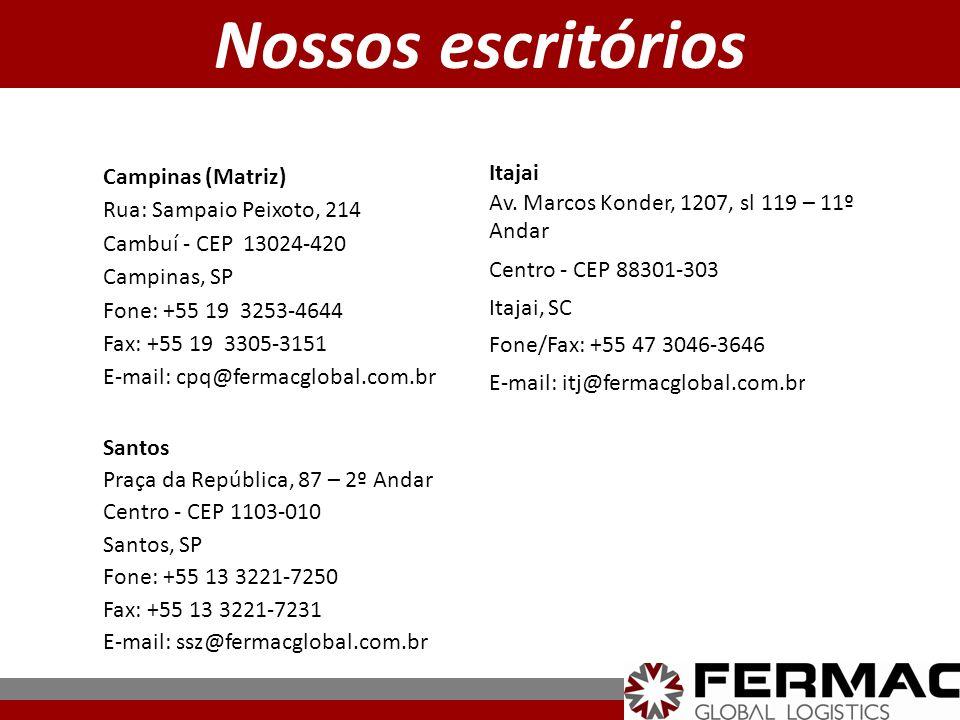 Nossos escritórios Itajai Campinas (Matriz)