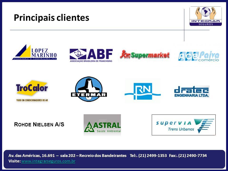 Principais clientes Rohde Nielsen A/S