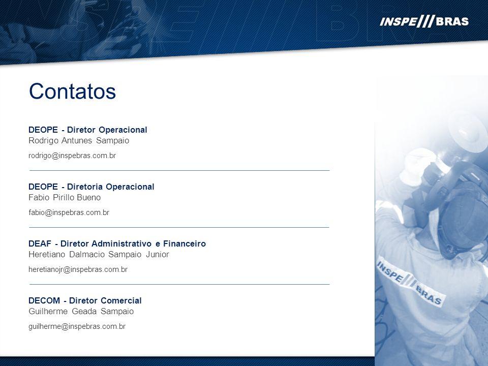 Contatos DEOPE - Diretor Operacional Rodrigo Antunes Sampaio