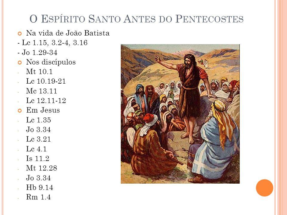 O Espírito Santo Antes do Pentecostes