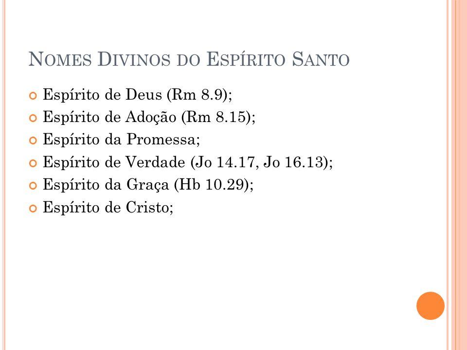 Nomes Divinos do Espírito Santo