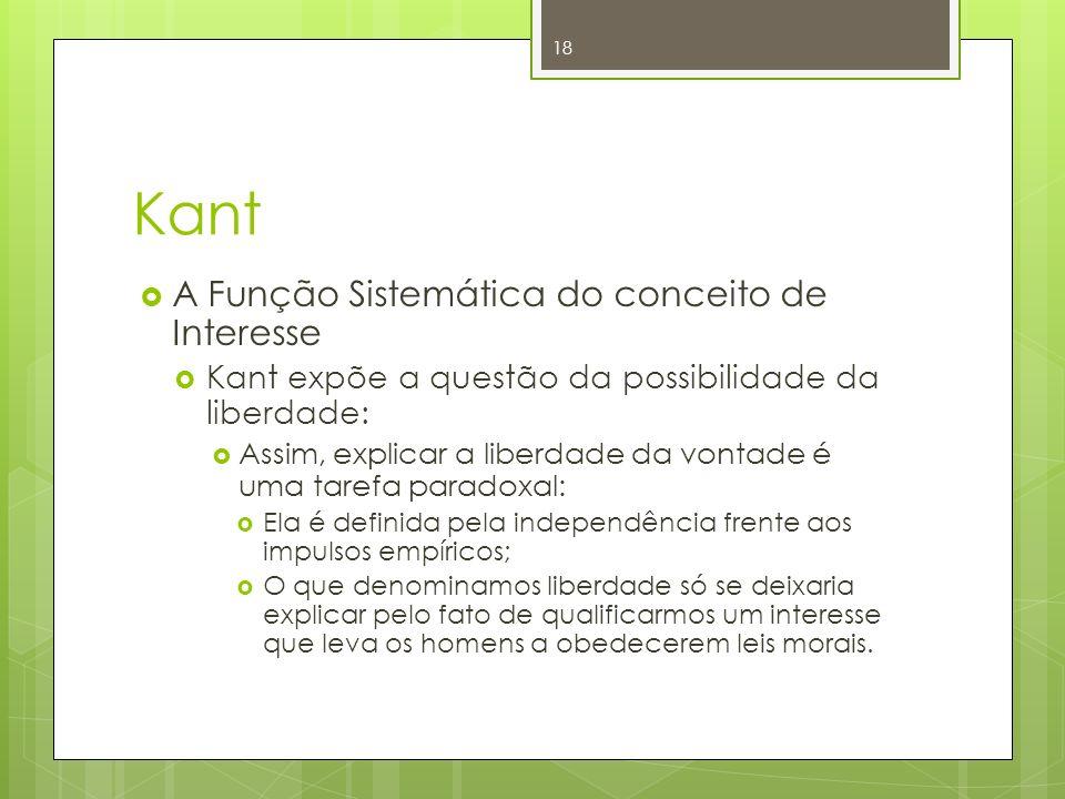 Kant A Função Sistemática do conceito de Interesse