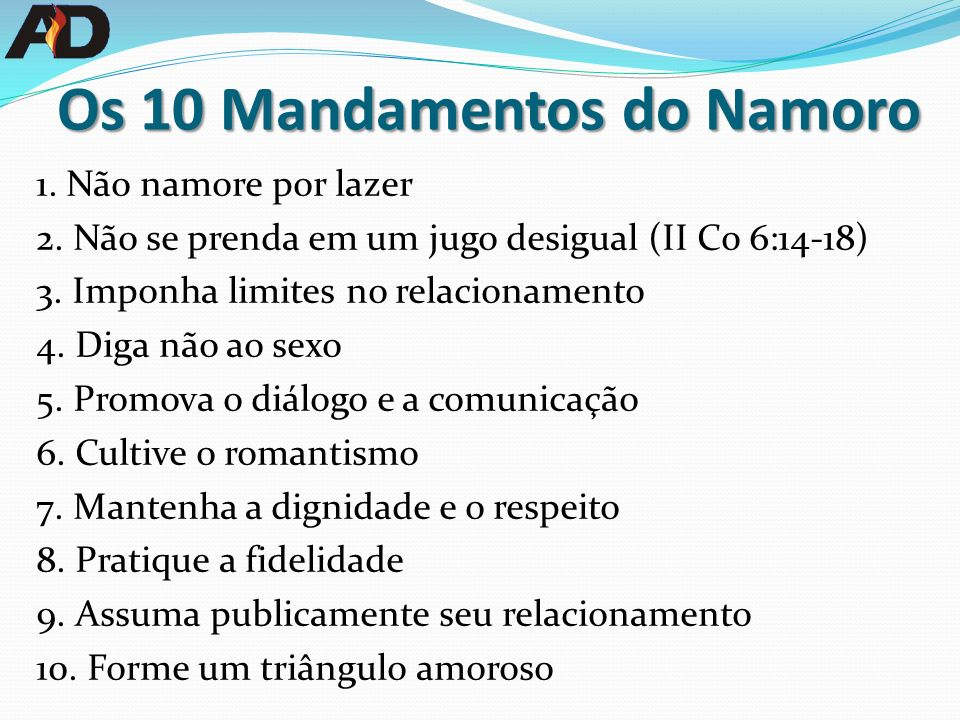 Os 10 Mandamentos do Namoro