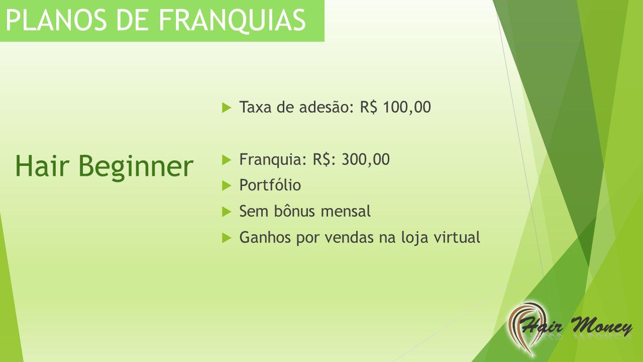 PLANOS DE FRANQUIAS Hair Beginner Taxa de adesão: R$ 100,00