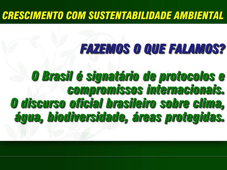 O Brasil é signatário de protocolos e compromissos internacionais.