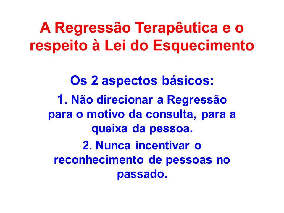 A Regressão Terapêutica e o respeito à Lei do Esquecimento