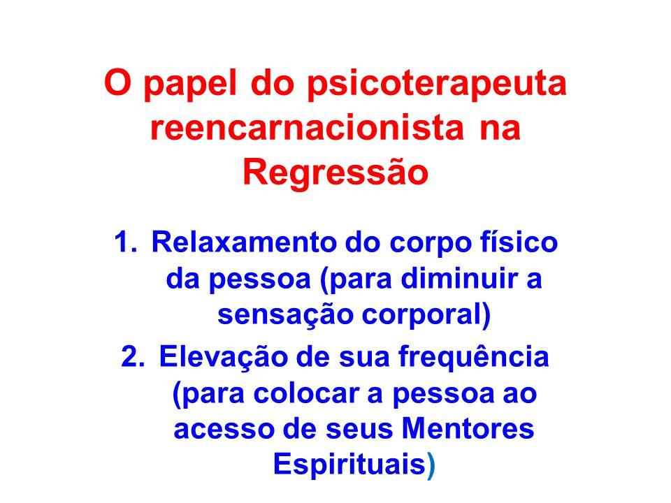 O papel do psicoterapeuta reencarnacionista na Regressão