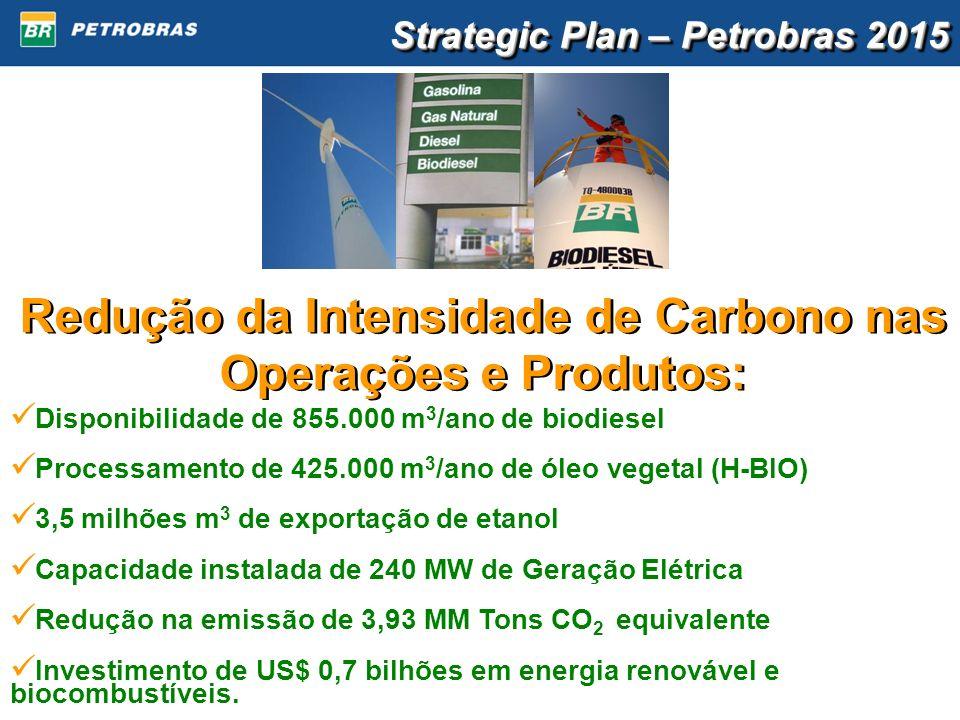 Redução da Intensidade de Carbono nas Operações e Produtos: