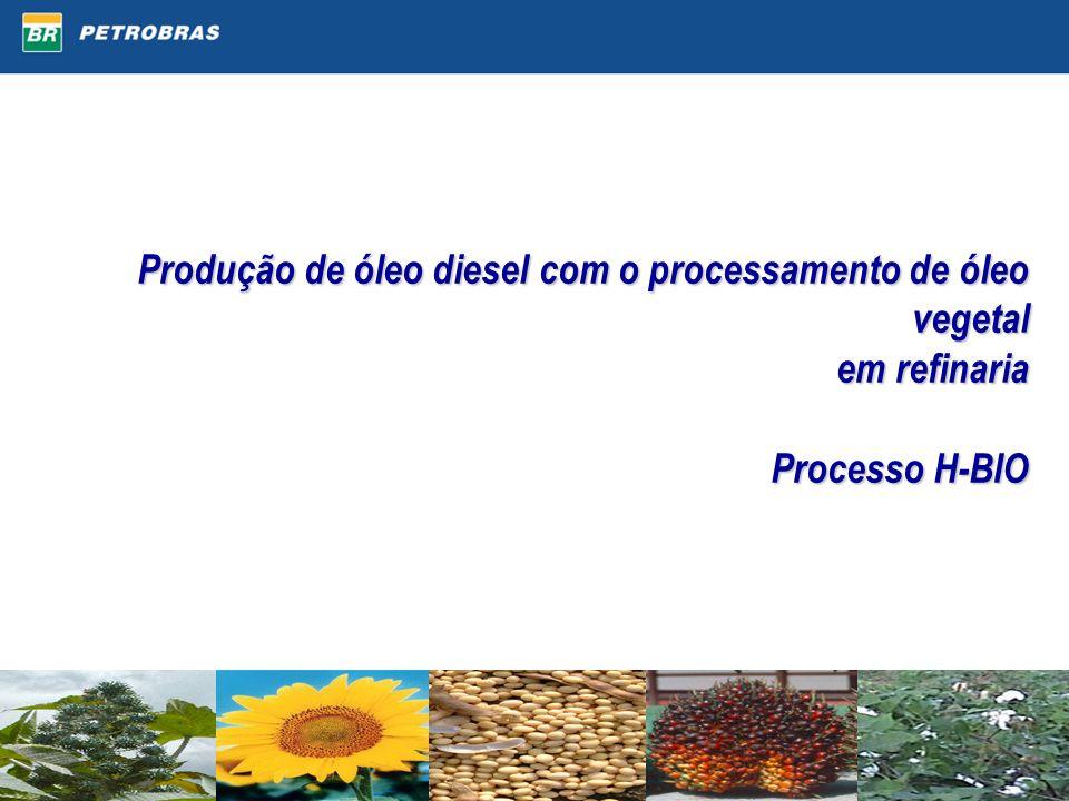 Produção de óleo diesel com o processamento de óleo vegetal em refinaria Processo H-BIO