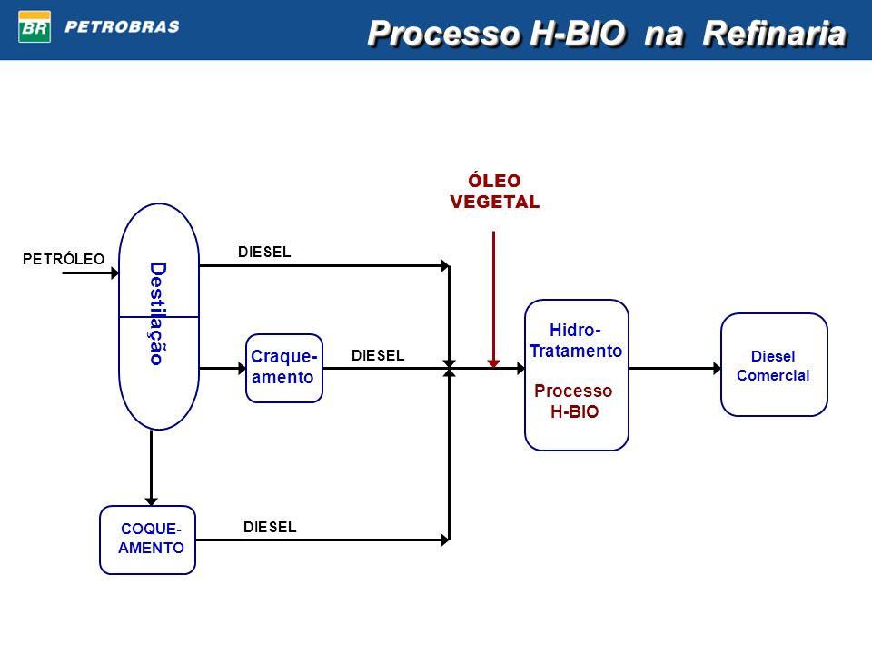 Processo H-BIO na Refinaria