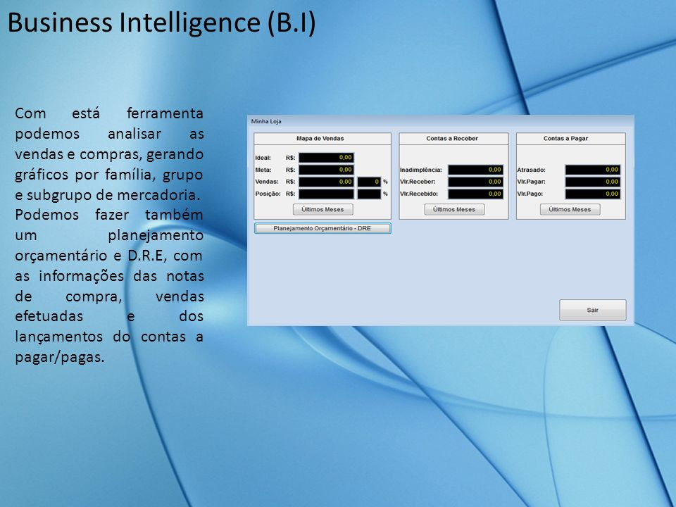Business Intelligence (B.I)