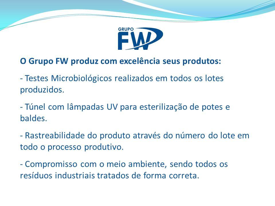 O Grupo FW produz com excelência seus produtos: