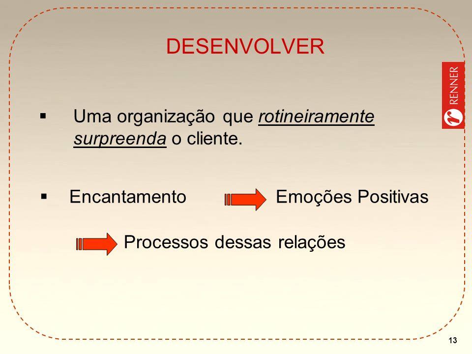 DESENVOLVER Uma organização que rotineiramente surpreenda o cliente.