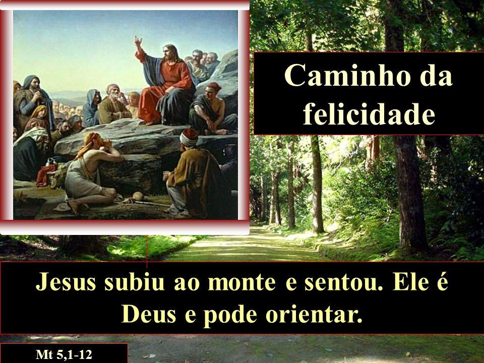 Jesus subiu ao monte e sentou. Ele é Deus e pode orientar.