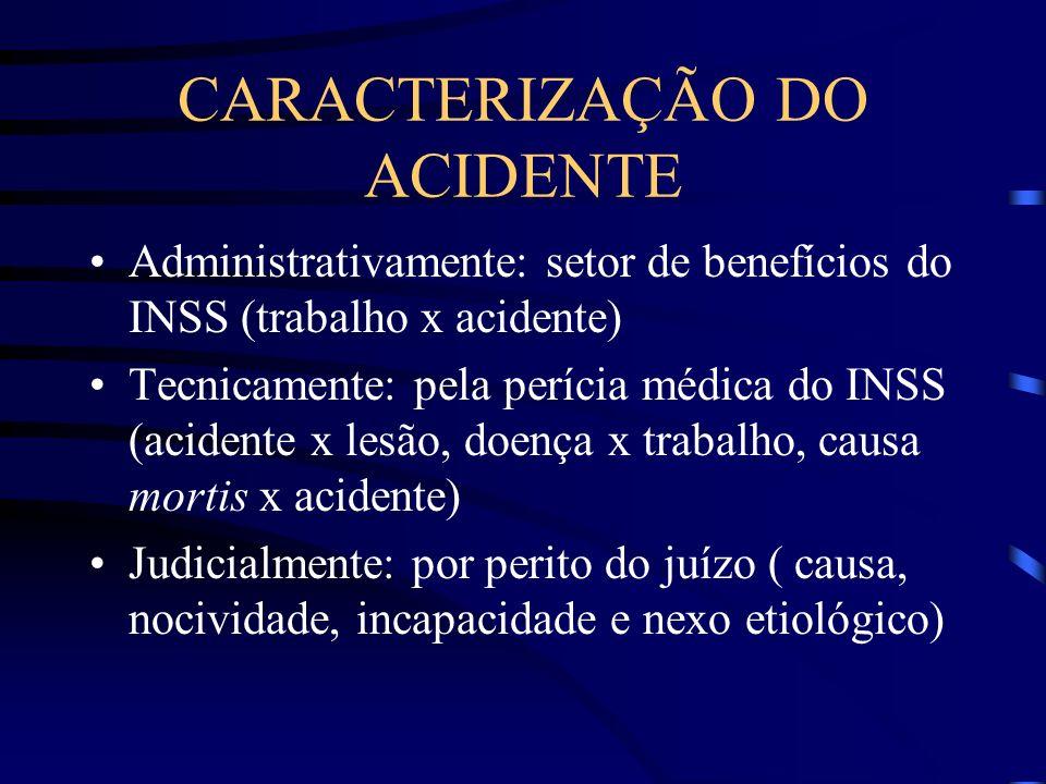CARACTERIZAÇÃO DO ACIDENTE