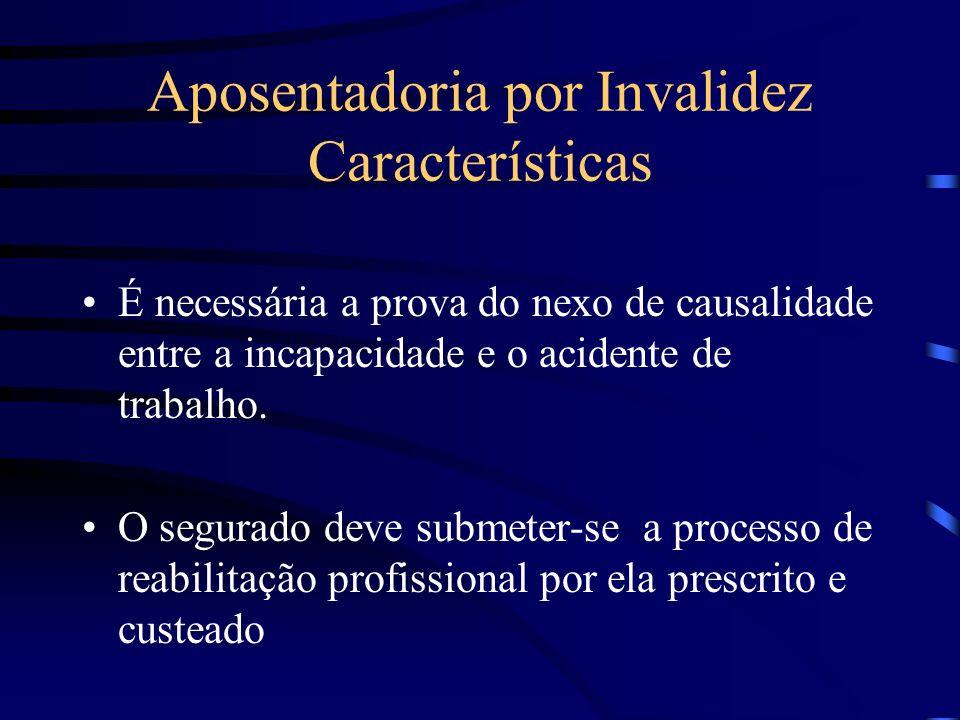 Aposentadoria por Invalidez Características