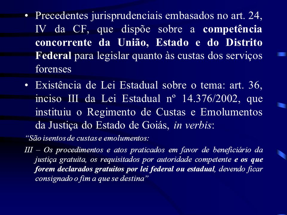 Precedentes jurisprudenciais embasados no art