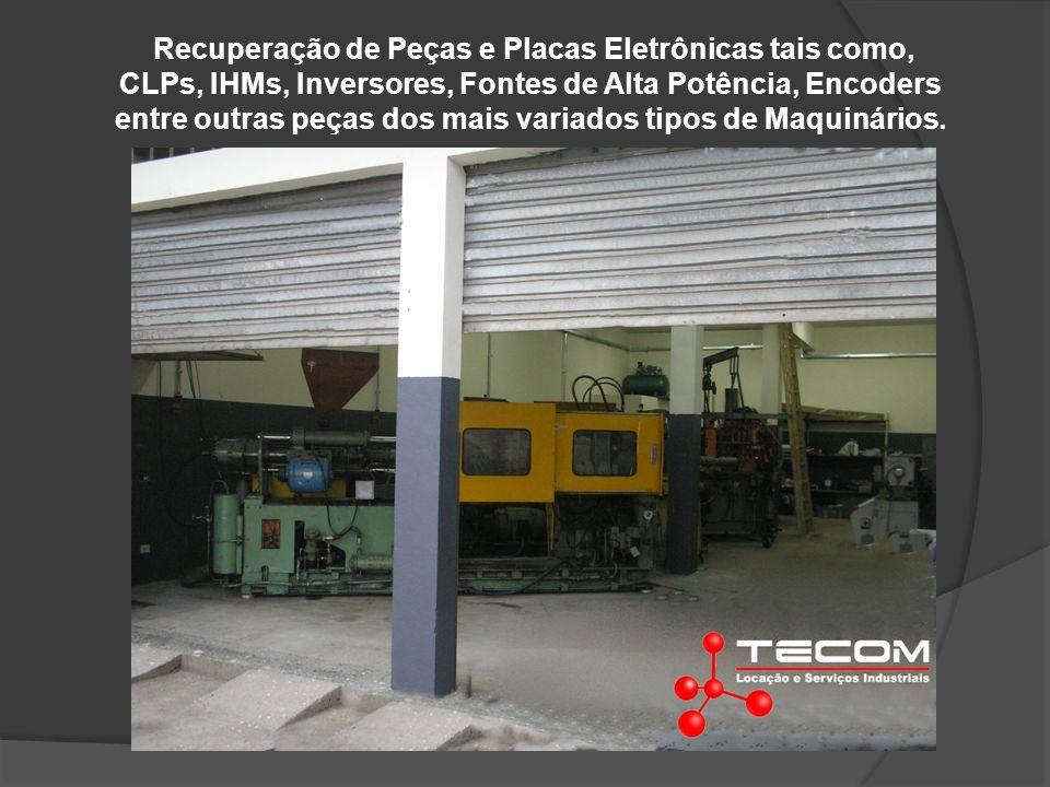 Recuperação de Peças e Placas Eletrônicas tais como, CLPs, IHMs, Inversores, Fontes de Alta Potência, Encoders entre outras peças dos mais variados tipos de Maquinários.