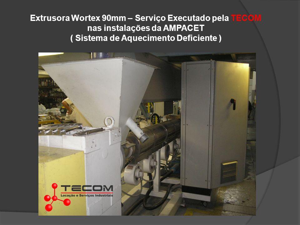 Extrusora Wortex 90mm – Serviço Executado pela TECOM nas instalações da AMPACET ( Sistema de Aquecimento Deficiente )