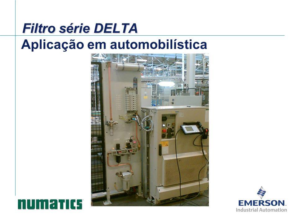 Filtro série DELTA Aplicação em automobilística