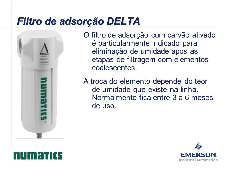 Filtro de adsorção DELTA