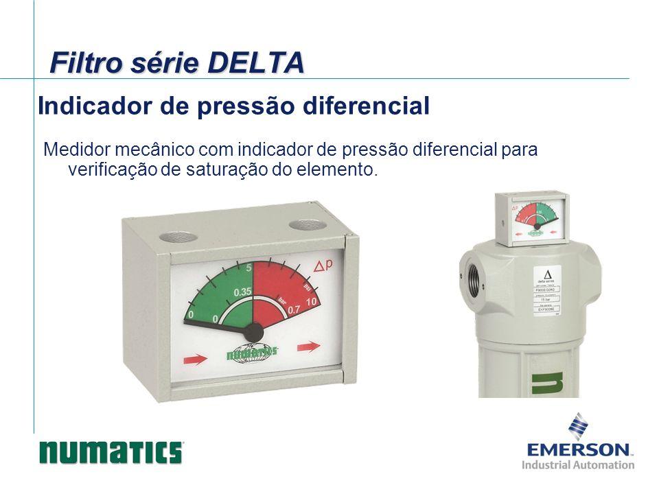 Filtro série DELTA Indicador de pressão diferencial