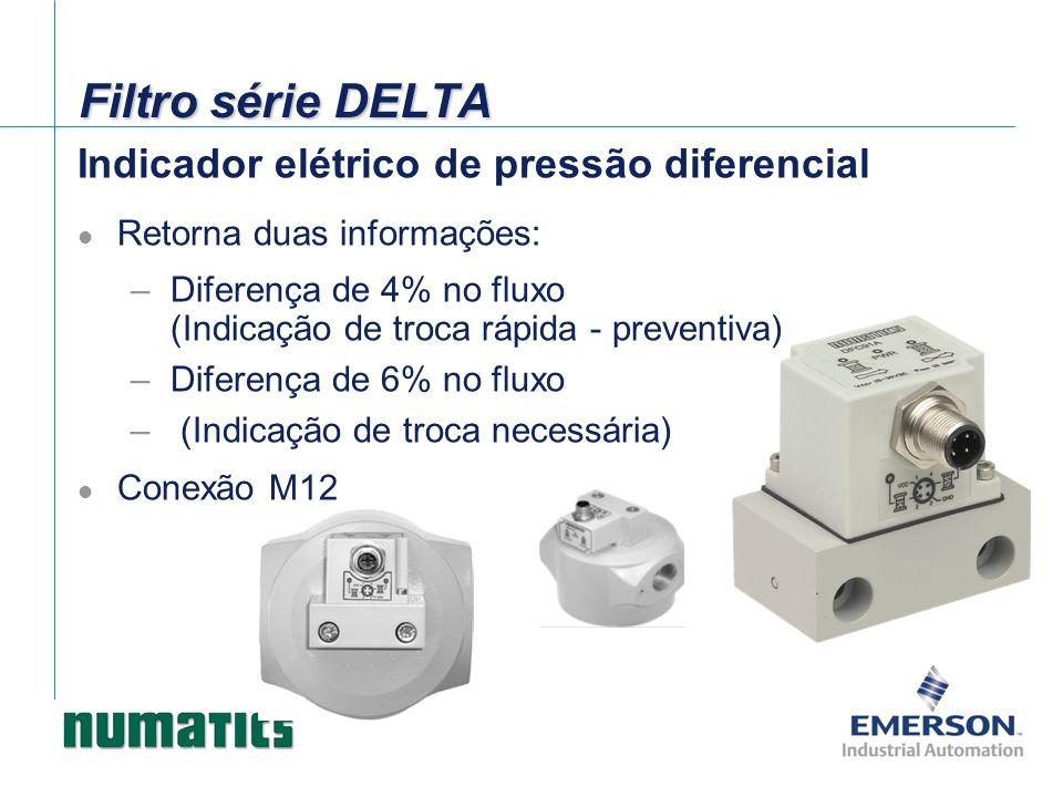 Filtro série DELTA Indicador elétrico de pressão diferencial