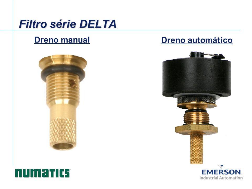 Filtro série DELTA Dreno manual Dreno automático