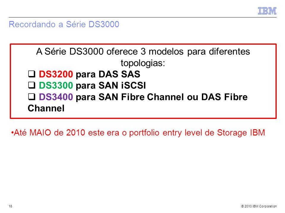 A Série DS3000 oferece 3 modelos para diferentes topologias: