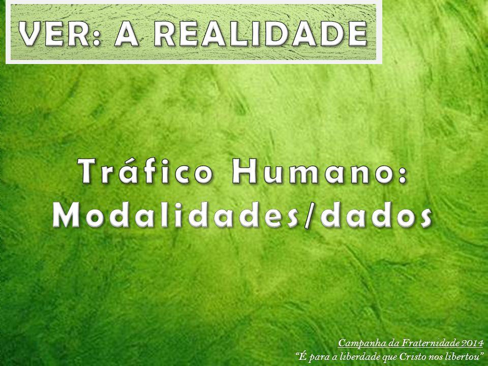 VER: A REALIDADE Tráfico Humano: Modalidades/dados