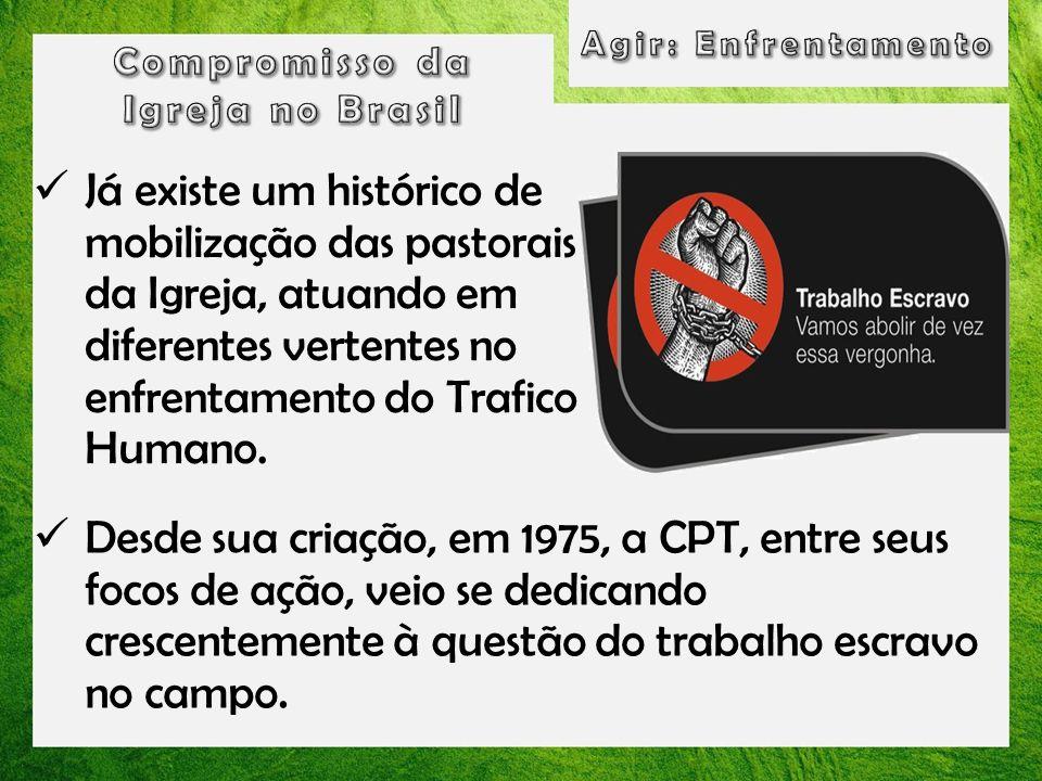 Agir: Enfrentamento Compromisso da. Igreja no Brasil.