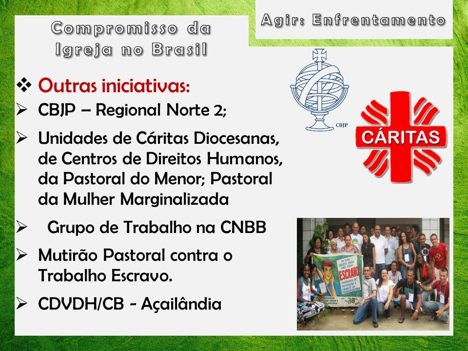 Outras iniciativas: Compromisso da Igreja no Brasil