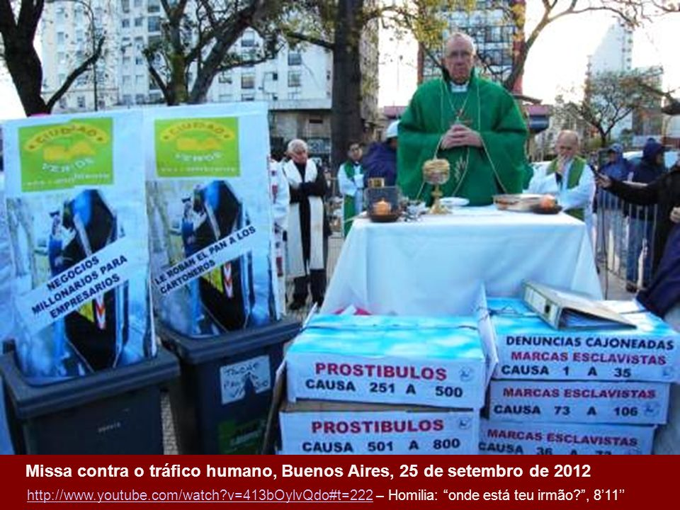 Missa contra o tráfico humano, Buenos Aires, 25 de setembro de 2012