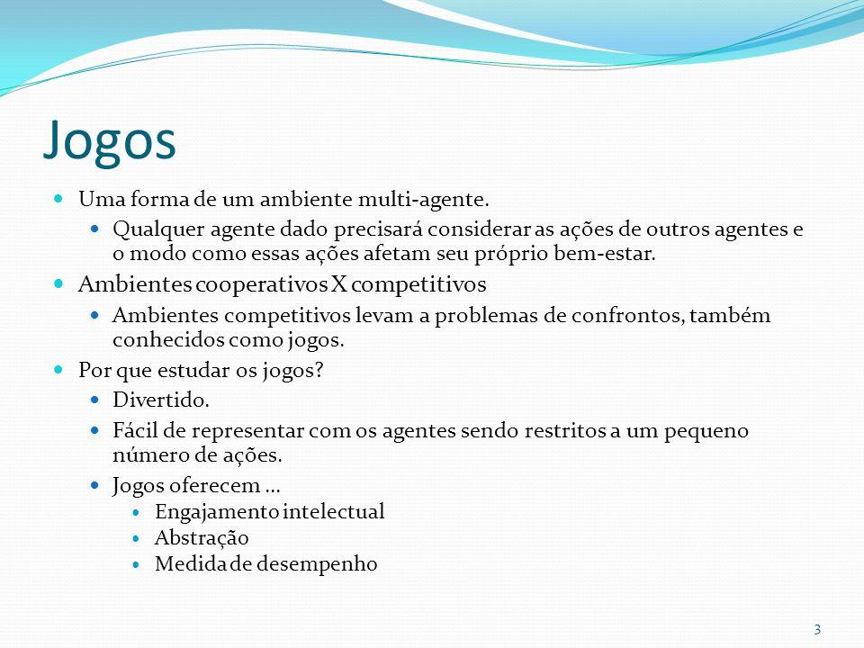Jogos Ambientes cooperativos X competitivos