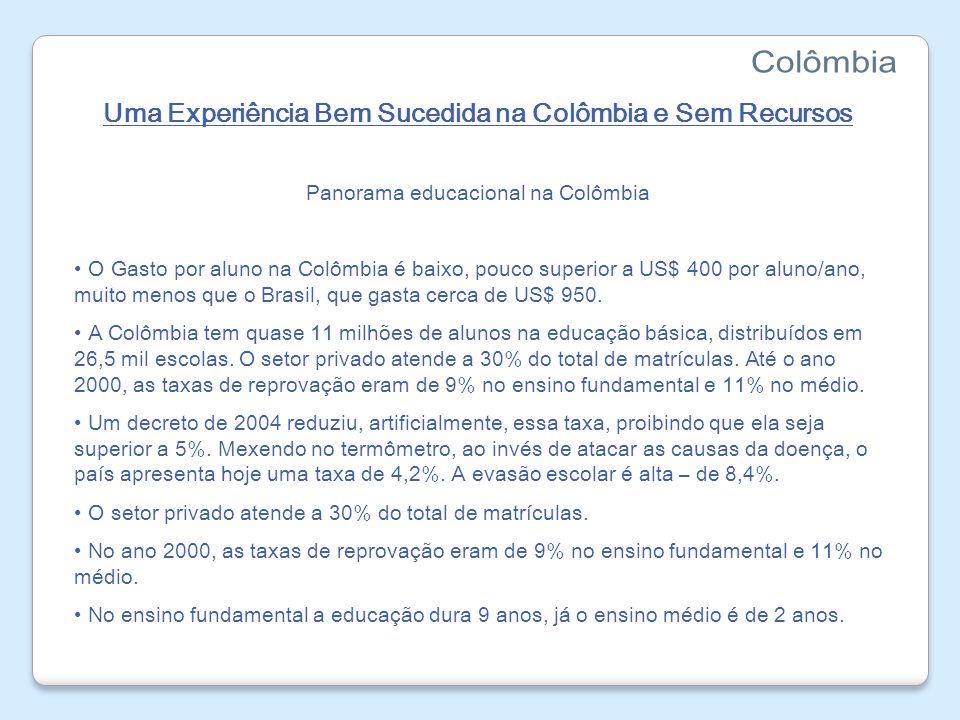 Uma Experiência Bem Sucedida na Colômbia e Sem Recursos